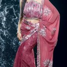 Bollywood Faux Georgette Net Embroidered Sarees Sari With Blouse - X 509