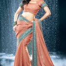 Bollywood Faux Georgette  Bridal Embroidered Sarees Sari With Blouse - X 530