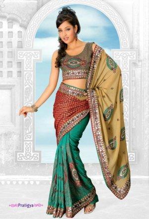 Bollywood Designer Sari Wedding Embroidered Saree - Ls Pratigya_a
