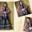 Bollywood Indian Designer Embroidered Wedding Bridal Saree Sari - HF - 7023