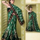 Bollywood Indian Designer Embroidered Wedding Bridal Saree Sari - HF - 7018