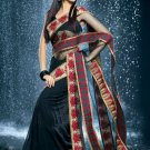 Bollywood Faux Georgette Net Bridal Embroidered Sarees Sari With Blouse - X 505