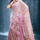 Bollywood Faux Georgette Bridal Embroidered Sarees Sari With Blouse - X 515