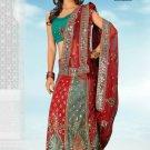 Bollywood Designer Sari Wedding Embroidered Saree - Ls Sheela