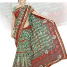 Indian Faux Georgette Wedding Embroidered Saris Sarees With Blouse - HZ 153b N