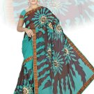 Indian Faux Georgette Wedding Embroidered Saris Sarees With Blouse - HZ 151a N