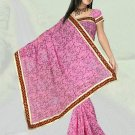 Indian Faux Georgette Wedding Embroidered Saris Sarees With Blouse - HZ 1007d N