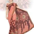 Indian Faux Georgette Wedding Embroidered Saris Sarees With Blouse - HZ 151b N