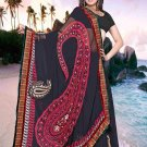 Indian Faux Georgette Wedding Embroidered Saris Sarees With Blouse - HZ 150a N