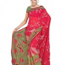 Indian Faux Georgette Wedding Embroidered Saris Sarees With Blouse - HZ 133b N