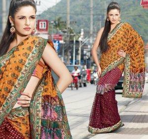 Bollywood Saree Designer Indian Party Wear Sari - X2482