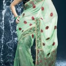 Bollywood Net Bridal Embroidered Sarees Sari With Blouse - X 527