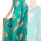 Indian Faux Georgette Wedding Embroidered Saris Sarees With Blouse - HZ 169d N