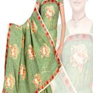 Indian Faux Georgette Wedding Embroidered Saris Sarees With Blouse - HZ 169c N