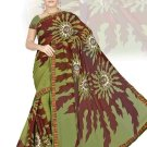 Indian Faux Georgette Wedding Embroidered Saris Sarees With Blouse - HZ 151c N