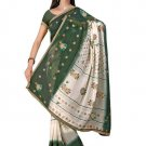 Indian Faux Georgette Wedding Embroidered Saris Sarees With Blouse - HZ 113b N