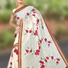 Indian Faux Georgette Wedding Embroidered Saris Sarees With Blouse - HZ 1006 N
