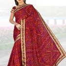 Indian Faux Georgette Wedding Embroidered Saris Sarees With Blouse - HZ 1005 N