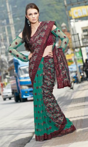 Bollywood Saree Designer Indian Party Wear Sari - X2483