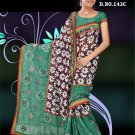 Indian Faux Georgette Wedding Embroidered Saris Sarees With Blouse - HZ 143c N