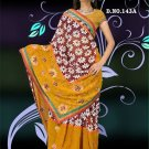 Indian Faux Georgette Wedding Embroidered Saris Sarees With Blouse - HZ 143a N