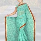 Indian Faux Georgette Wedding Embroidered Saris Sarees With Blouse - HZ 1007c N