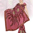 Indian Faux Georgette Wedding Embroidered Saris Sarees With Blouse - HZ 151d N
