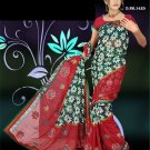 Indian Faux Georgette Wedding Embroidered Saris Sarees With Blouse - HZ 143d N
