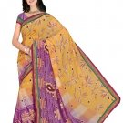 Indian Faux Georgette Wedding Embroidered Saris Sarees With Blouse - HZ 133d N