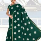 Indian Faux Georgette Wedding Embroidered Saris Sarees With Blouse - HZ 1002b N