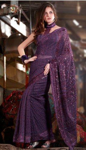 Bollywood Saree Designer Indian Party WEar Sari - X2408