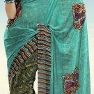 Indian Designer Wedding  Bollywood  Sari Printed Saree  - X 760b