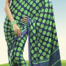Indian Designer Wedding  Bollywood  Sari Printed Saree  - X 770a