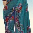 Indian Designer Wedding  Bollywood  Sari Printed Saree  - X 762b