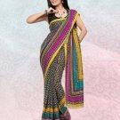 Faux Georgette / Sattin Patti Casual Printed Sari Sarees With Blouse - X 4783b N