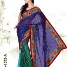Faux Georgett Wedding Exclusive Embroidered Sarees Sari With Blouse - GW 1552 A