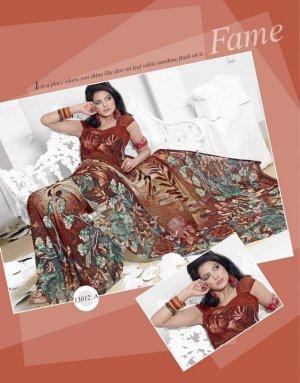 Indian Bollywood Designer Printed Saree Sari - 13012A