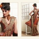Faux Georgette Bridal Heavy Embroidery Saree Sari With Blouse - MD 5001