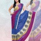 Faux Georgette / Sattin Patti Casual Printed Sari Sarees With Blouse - X 4811c N