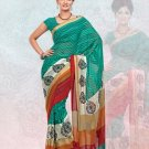 Faux Georgette / Sattin Patti Casual Printed Sari Sarees With Blouse - X 4811b N