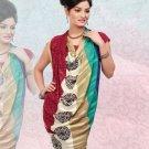 Faux Georgette / Sattin Patti Casual Printed Sari Sarees With Blouse - X 4811a N