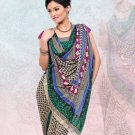 Faux Georgette / Sattin Patti Casual Printed Sari Sarees With Blouse - X 4808b N