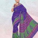 Faux Georgette / Sattin Patti Casual Printed Sari Sarees With Blouse - X 4792b N