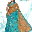 Indian Bollywood Designer Embroidered Saree Sari - X priyanshi3