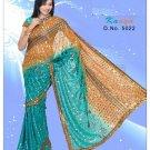 Indian Bollywood Designer Embroidered Saree Sari - X kanya