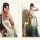Faux Georgette Heavy Embroidery Lehenga Saree Sari With Blouse - MD 5008
