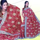 Indian Bollywood Designer Embroidered Saree Sari - X chitranshi