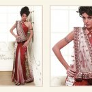 Georgette / Net  Heavy Embroidery Lehenga Saree Sari With Blouse - MD 5004