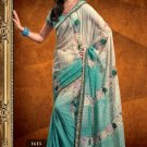 Faux Georgette Wedding Designer Embroidered Saree Sari With Blouse - X 1613
