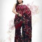 Faux Georgette Fabric Fire Brick Color Designer Printed Saree Sari - Nt 145B